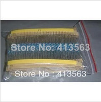 Envío gratis + Total 600pcs 1% 1 / 4W Metal Film Resistor Surtido 30 Valores (10 Ohm ~ 1M Ohm), 20pcs Cada valor # 30145