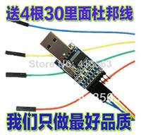 Cheap diy kit wholesale 4pcs lot =2pcs pl2303 usb to rs232 ttl converter adapter module+ 2pcs cable & dust-proof cover pl2303hx 30313