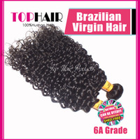 Wholesale a Grade Brazilian Virgin Hair Extensions quot quot Virgin Remy Human Hair Weave Weft Deep Wave Curly B Color