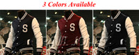 Wholesale Fall Winter NEW Men s Varsity Letterman College Jacket Baseball Jacket Coat PJ CL3816