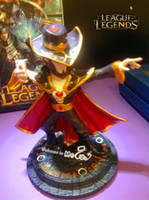achat en gros de league of legends card-Les figures Master Card Twisted Fate LOL Champions Figurines d'action 14cm League of Legends Accessoires de jeux Cartoon Q mignon modèle Mini Jouets