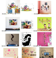 Wholesale Mix Orderde Dorative Wall Decals for Living Room and Cartoon Wall Stickers for Children