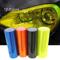 Wholesale 2014New cm m Auto Car Sticker Smoke Fog Light HeadLight Taillight Tint Vinyl Film Sheet with all colors available decoration film decals