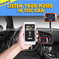 Wholesale Bluetooth Car Kit MP3 Player FM Transmitter Modulator Remote Control Talking in handsfree support TF and USB charger