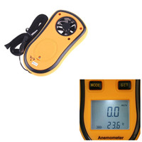 Wholesale Digital Pocket Anemometer Wind Speed Meter Thermometer dropshipping Measurement H4327