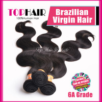 Wholesale 6A Unprocessed Virgin Hair Brazilian Body Wave Wavy Hair Weft quot quot Queen Hair Products DHL Cheap Hair