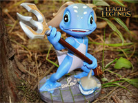 Fizz PVC Action Figures & Model The Tidal Trickster Fizz Figures LOL Champions Action Figures 12cm League of Legends Game Accessories New Mini Catroon Dolls Q Model Toys