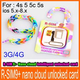 Wholesale R SIM R SIM PLUS gold RSIM9 R SIM PRO Nano cloud intelligent unlocked card available for iphone s C S G G IOS x x x x