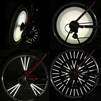 Wholesale 100sets set Cycling Bicycle Spokes Wheel Reflective Bike Spoke Reflector Warning Strips Clip mm H10169
