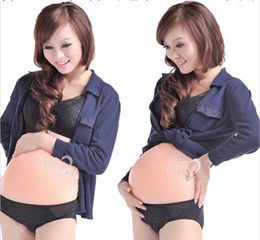 Wholesale 10 Months age of Twins Artificial Baby Tummy Belly Fake Pregnancy Pregnant Bump Silicone belly for woman
