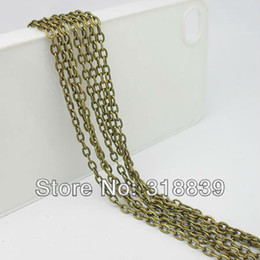 Wholesale Cheap m New Antique Bronze Link Chains Jewelry Findings Fit Necklace amp Bracelet DIY Circle mm