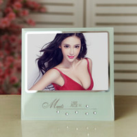 Frame glass photo frame - New Crystal Glass Photo Frame Photo Frame inch photo frame transparent diamond creative selling XK99