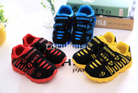 Wholesale 2014 hot sale children shoes boys shoes baby girl shoes kids sneakers baby sport shoes size in stock retail and colors blue red
