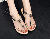 Wholesale New Korean Women s Shoes After Elastic Women s Flat shoes Sandals Women s Sandals black drop shipping
