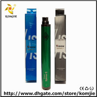 Cheap newest 1600 mah vision spinner 2 EGO c twist 1650mah spinner ii BATTERY rechargeable Smoking Pipe e cig colorful vv 3.3v-4.8v variable volta