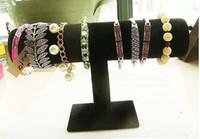 Nouvelle Velours Bracelet Montre Collier de la Barre en T de Bijoux support de présentoir Noir livraison gratuite