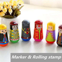 Wholesale 24 Marker Rolling stamp Euro Tumbler roly poly design Highlighter Novelty pen Office accessories school supplies