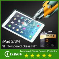 Cheap 0.33 mm 9H Tempered Glass Screen Protector for iPad 2 3 4 iPad 5 iPad Air iPad Mini 1 2 Explosion Proof Shatter Proof Film Guard Shield