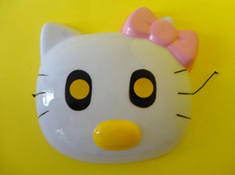 Masque de chat en Ligne-Lovely Kids Halloween Mask Party Favor Hello Kitty Masques Enfant Jouets pour enfants Cadeau de Noël C1329