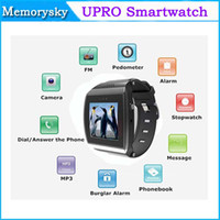 Wholesale U8 Pro Bluetooth Smart Watch SIM Slot Wristwatch Touch Screen Watch phone Camera FM for Smartphone Android Phone Newest