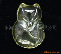 Cheap Wholesale natural citrine pendant fox popular personalized jewelry fashion accessories