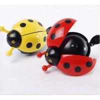 Wholesale 1Pcs New Bicycle Ladybug Bell Ladybird Alarm Bike Metal Handlebar Horn Metal Handlebar Horn Colors