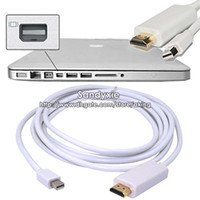 50pcs 1. 8M(6ft) 10Feet Mini DisplayPort DP To HDMI cable con...