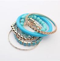 Wholesale Korean Fashion Beautiful Multilayer Bead Bracelet
