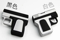 Wholesale box packing black and white colors pistol an arc lighter
