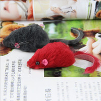 Wholesale cat toy real rabbit fur mouse for cat CM