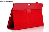 al por mayor soportar pulgadas-Doblar la caja magnética elegante del cuero del tirón del soporte con el sostenedor de la pluma para la superficie 3 de Microsoft Pro 3 4 Pro3 12inch 10.8 pulgadas Surface3 Pro4 12.3