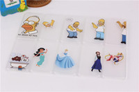 Wholesale 120pcs Designs Funny Simpson Hand grasp Snow White Minions Pattern Back Skin Cover Hard Case for iPhone G S G S C