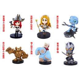 Wholesale LOL League of Legend Miss Fortune Lux Fizz Nunu Shen Q Version PVC Action Figure Collectible Model Toys Dolls Packed in Box