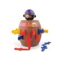 Cheap New Hot Sale Kids Children Funny Lucky Stab Pop Up Toy Gadget Pirate Barrel Game Toy 1pcs with Free Shipping