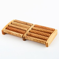 Wholesale 1pcs Rows Wooden Foot Roller Wood Care Massage Reflexology Relax Relief Massager