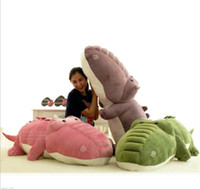 Cheap Free shipping,New arrival cute plush crocodile dolls stuffed animal toys 55cm size big colorful alligator pillow toys HT010