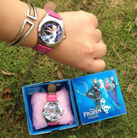 Wholesale 10pcs frozen watch kids fashion quartz cartoon Jelly Candy led with box Cute Lovely Girl woman lady