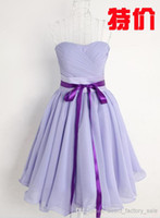 Cheap In Stock Cheap NEW Short Mini Sexy Cocktail Dresses Strapless Chiffon Prom Homecoming Party Bridesmaid Dresses Special Occasion Dresses