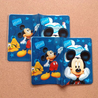 Wholesale 200pcs Mickey mouse passport holders passport covers Card holders