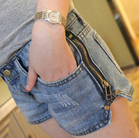 Cheap High quality new 2014 summer fashion Casual Loose Mid Ripped denim shorts women,female Washed jeans hot pants 6648