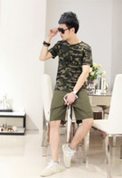 Cheap Woodland Camouflage Green Vintage Military T-Shirt Camo Short Sleeve T-Shirt DH
