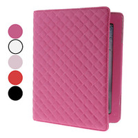Wholesale Freeship Straw Mat Pattern PU Leather Case with Stand for iPad amp iPad