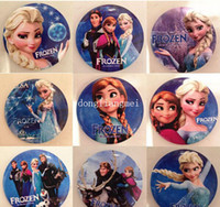 Cheap 30pc 2014 Frozen Cartoon Pin Badge 4.5cm Anna Elsa Princess Olaf Costume Cosplay Boys Girls Toy Fashion Badges #Z367