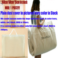 Wholesale New Arrival Factory Sale Ivory Bridal Wedding Gowns Garment Dust Cover Bags Quality Nonwoven Fabric CM cm