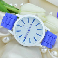 best hand watch - Best Christmas gift colors women men Genneva watch Silicone Rubber Hollow out needle Wristwatches jelly candy fashion students watches