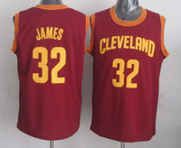 Wholesale New Arrival Basketball Jersey Cavaliers LeBron James Red Basketball Wears Top Players Jerseys Hot Sale Authentic Athletic Apparel