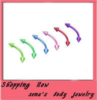 Wholesale E01 Eyebrow Ring G Horseshoes nose ring Body Piercing mix co