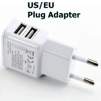 Wholesale 5V A Dual USB Wall Charger for Samsung EU US Plug AC Power Home Travel Adapter for Galaxy S4 S3 S5 Note HTC Nokia Blackberry Universal