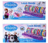 Cheap 1407z frozen loom bands rainbow loom DIY toys Kit looming kits Rubber band bracelets gifts for children 40070814678