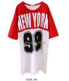 Wholesale DHL Japan and South Korea version of the original SuFeng NEWYORK letters basketball baseball uniform dress female T shirt